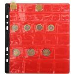 Sachet de 3 recharges numismatiques 32 cases de diamètre 20-30-40mm - 24 ,5x25 cm - Cristal
