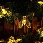 SALCAR 5M Lumière Guirlande 20 papillons éclairage de décoration (blanc chaud) - Salcar