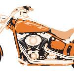 Salon De Séjour Décalque Mur Usa Orange Moto, Salon D'autocollant Mur, Décoration Salle