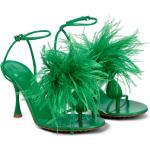 Chaussures saison été BOTTEGA VENETA bleues avec plumes pour femme
