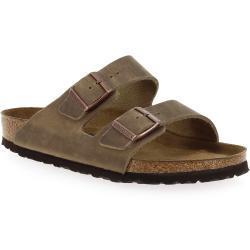 Sandales saison été Birkenstock beiges en nubuck Pointure 44 pour homme