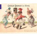 Savez-Vous Planter Les Choux - Jolie Chromo Chocolat Besnier 1900's Fille Robe Danse Pied Costume Mode French Victorian Trade Card Ephemera