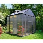 serre de jardin 5.7m² gris anthracite - 702400 - palram