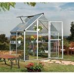 Serre de jardin en polycarbonate Hybrid 2,33 m², Couleur Argent, Ancrage au sol Oui