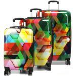 Set 3 valises rigides Madisson Arlequin Multicolore jaune