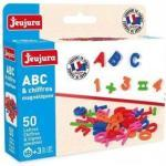 Set 50 Aimants : Lettres Majuscules + Chiffres + Signes - Accessoires Tableau Magnetique Enfant - Jeujura