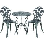 Set de bistro kit de bistro vintage ensemble de table et de chaises de jardin fonte vert 03_0003737