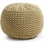 Shott - Pouf en coton tricoté
