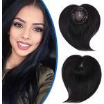 Silk-co Complément Capillaire Femme Cheveux Humains Naturels Toupet Femme 6 Pouces Extension A Clip - Diamètre de Base: 9cm - Noir Naturel