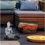 Silumen Bouddha Décoratif Avec Photophores Et Plateau Encens