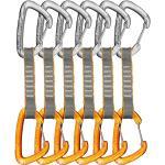 Skylotec Flint Express Wire Set de dégaines d'escalade 11cm 6 pièces, gris/orange 2020 Dégaines
