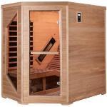 SNÖ Sauna d'angle infrarouge LOUNGE 1 place panneaux carbone et céramique 2570W - Snö