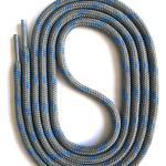 Snors - Lacets Safety Senkel Gris/Bleu, 8 Longueurs, Environ 5 Mm Tabourets Ronds Pour Chaussures De Travail, Randonnée, Trekking