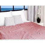 Soleil d'ocre Jeté de lit 220x240 cm COTONADE Rouge, Polyester Coton, 240x220 cm