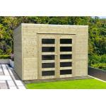 Solid Abri de Jardin en Bois Traité Bari 19 mm - 9 m² avec Toit Plat - S8741-1