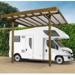Solid Carport modulable Camping car 4x5x4m en bois traité autoclave - SOLID