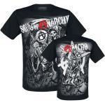 Vêtements noirs Sons of Anarchy à manches courtes à col rond pour homme