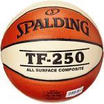 Spalding TF 250 SZ.6, (74-584Z) Ballon de Basket Mixte Adulte, Orange/Blanc, 6