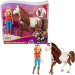 Spirit L'indomptable, poupée articulée Abigaelle et figurine cheval Boomerang à longue crinière pour rejouer les scènes du film, jouet pour enfant, GXF23