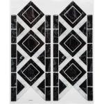 Sticker Carrelage Frise 12x30cm Noir - Paris Prix