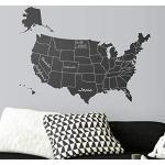 Sticker Géant Repositionnable Carte des Etats-Unis Tableau Noir