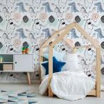 Sticker papier peint enfant animaux de la forêt enchantée