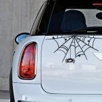 Sticker voiture toile d'araignée
