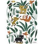 Stickers Jungle night animaux de la jungle (29,7 x 42 cm) Lilipinso