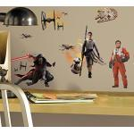 Stickers Repositionnables Star Wars the Force Awakens Ep Vii Ensemble Cast