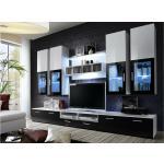 Stylefy LIRA Ensemble TV mural 190x300x45 Blanc Noir