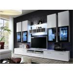 Stylefy LIRA Ensemble TV mural 190x300x45 cm Blanc