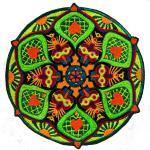 Sunrise Patch Mandala De Coeur