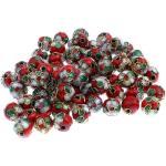 superbijoux Lot de 20 perles cloisonnées chinoises rondes 8 mm 8mm rouge