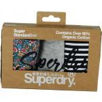 SUPERDRY Super Standard Brief W /florale gris marine bandes L Sou floral grey navy stripe