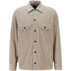 Chemises Hugo Boss BOSS grises en velours look casual pour homme