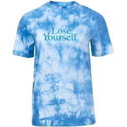 Vêtements Paco Rabanne bleus à motif tie-dye à manches courtes à col rond pour femme de la boutique en ligne 24S