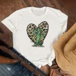 T-Shirt Mignon Graphique Imprimé Cactus Pour Femmes Robe