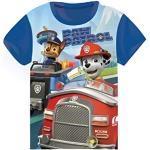 T Shirt Pat Patrouille, T Shirt Manches Courtes Paw Patrol (2 Ans, Bleu Clair)