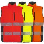 T2S - Gilet de travail sans manches NEPAL - Orange fluo/marine - Taille 3XL Orange fluo L