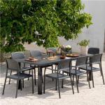 Table de jardin extensible anthracite en aluminium BALSA