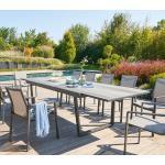 Table de jardin extensible Unione Smoke grey Graphite