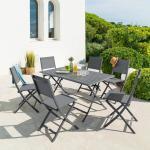 Table de jardin pliante rectangulaire Azua Tonka