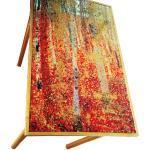 Table Petite Table Klimt, D'après Tableau Du Peintre, Relookée Pieds Dorés Par Sophieldesign