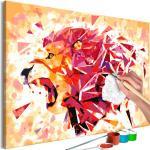 Tableau à Peindre Soi-Même Abstract Lion 40x60cm - Paris Prix