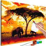 Tableau à Peindre Soi-Même Africa at Sunset 80x120cm - Paris Prix