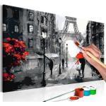Tableau à Peindre Soi-Même Amoureux à Paris 40x60cm - Paris Prix