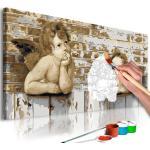 Tableau à Peindre Soi-Même Anges de Raphael 40x80cm - Paris Prix