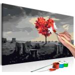 Tableau à Peindre Soi-Même Arbre en Forme de Coeur 40x60cm