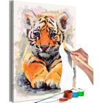 Tableau à Peindre Soi-Même Bébé Tigre 40x60cm - Paris Prix