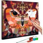 Tableau à Peindre Soi-Même Hibou Géométrique 40x40cm